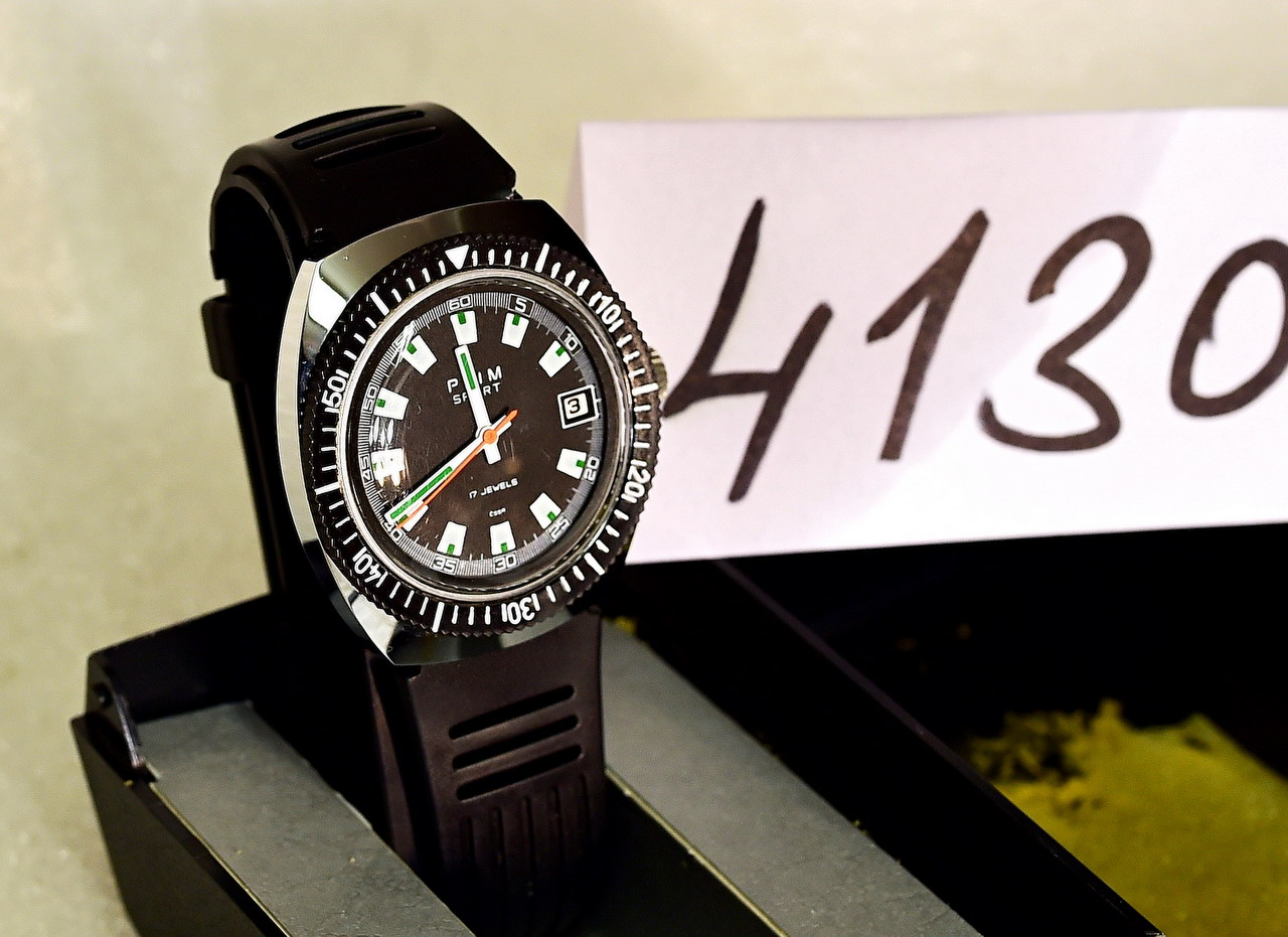 8472f06b9 PRIM Sport – nenošené – not used – mechanické hodinky ČSSR (No.4130 ...