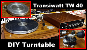 Transiwatt DIY turntable Transiwatt TW 40 Junior 11111 hotovo