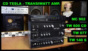 Transiwatt TW 600 CD, TW 077 Pionýr, TW 140 Studio, Tesla MC 902 CD přehrávač