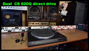 Dual CS 620Q Direct Drive Gramofon k servisu - přenoska Ortofon DN 165E (177101)