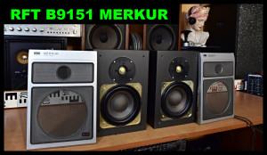 RFT B9151 MERKUR HIFI-Lautsprecherbox Zweiwegebox Reprosoustavy (177106)