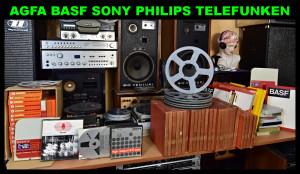 AGFA BASF SONY TELEFUNKEN SCOTCH AMPEX SUPRAPHON Magnetofonové pásky - cívky (177152 - 177178-28)