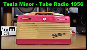 Tesla Minor 3001 B Elektronkové Rádio 1956-1958 (177249)