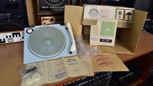 Supraphon HC 646 gramofon - šasí, 4 rychlosti 16-33-45-78, 120/220V, NEPOUŽITÉ r.1968 (177436)