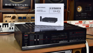 Studio Standard by FISHER CA-876 Integrated Stereo Amplifier & SERVICE MANUAL - zesilovač k servisu (177554)