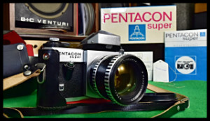 PENTACON super camera - Carl Zeiss Pancolar 1.4/55 lens Objektiv not used NOS (176733)