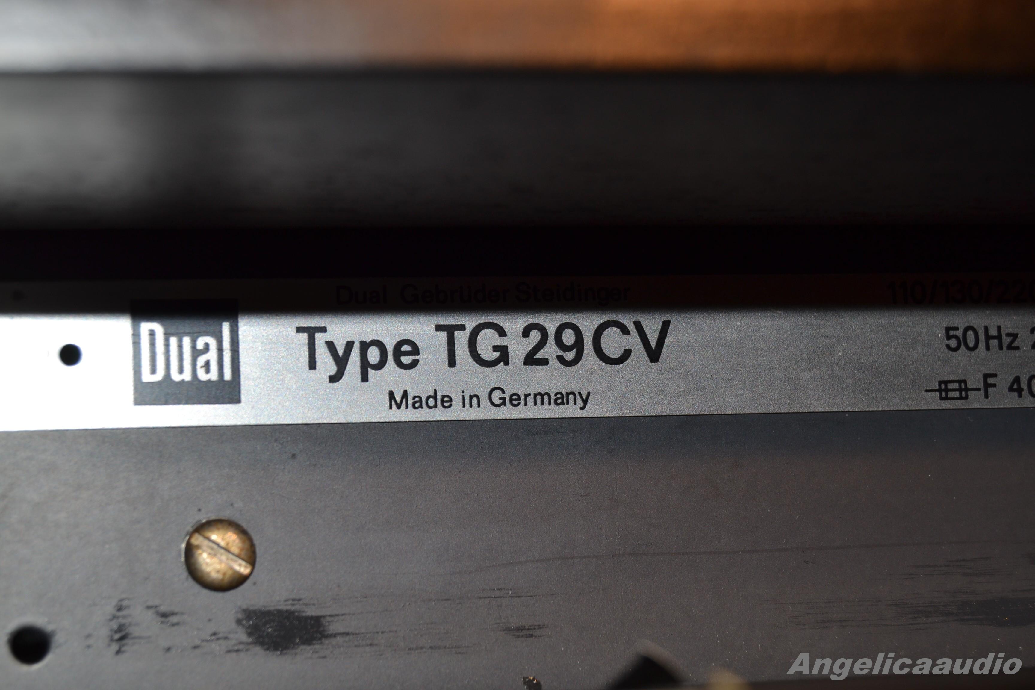 dual tg 29 cv  reel to reel  w germany 1972