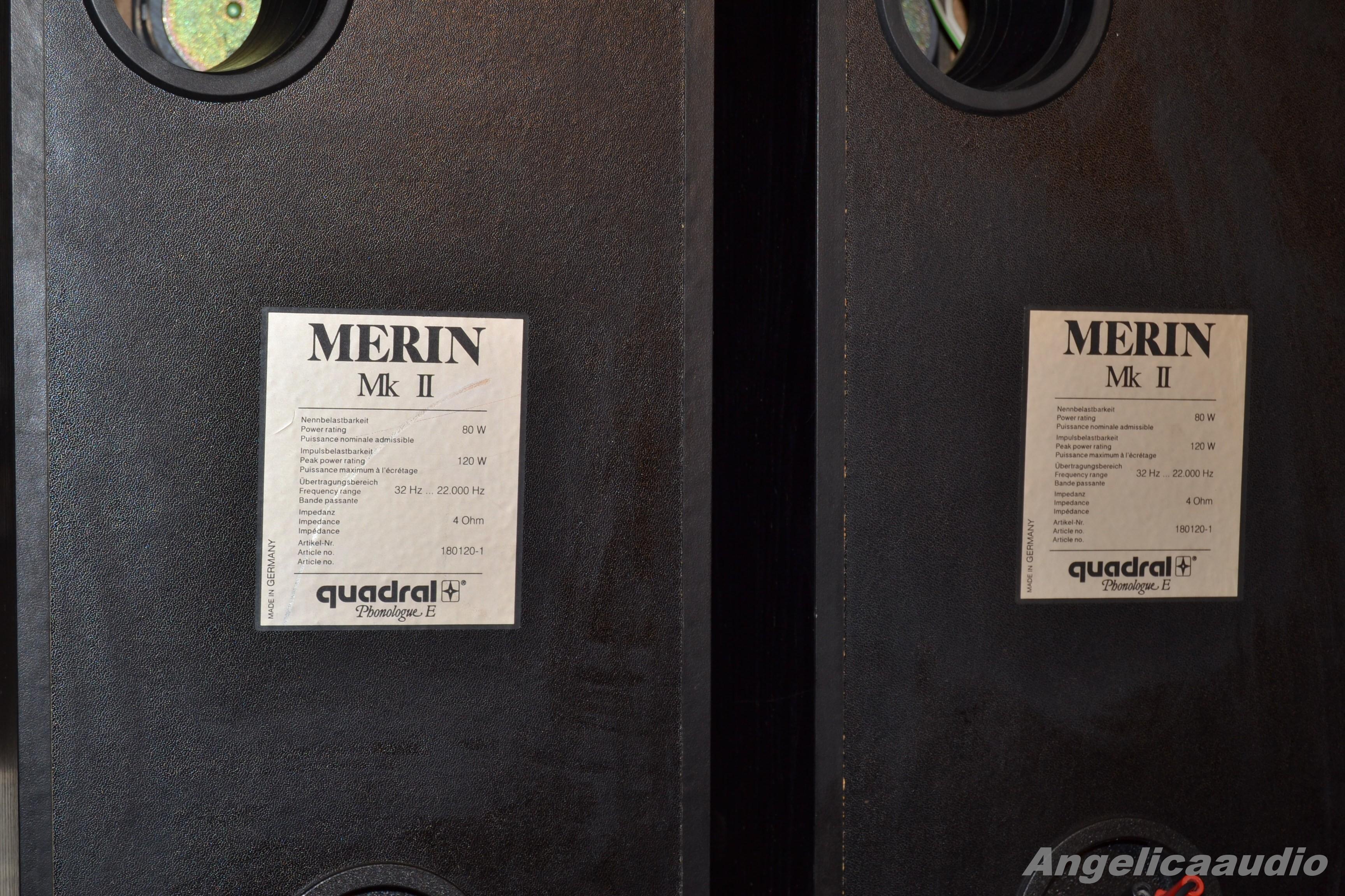 Quadral Merin Mk Ii Phonologue E 120w 4 Ohm Germany