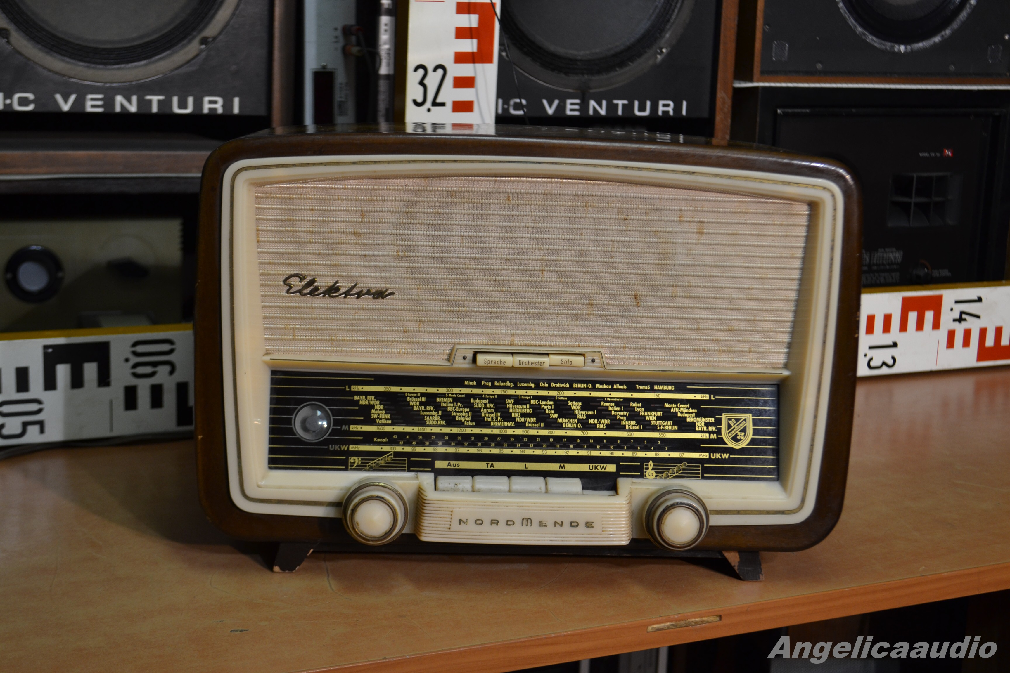 Nordmende Elektra 59 Radio W Germany 1958 1959