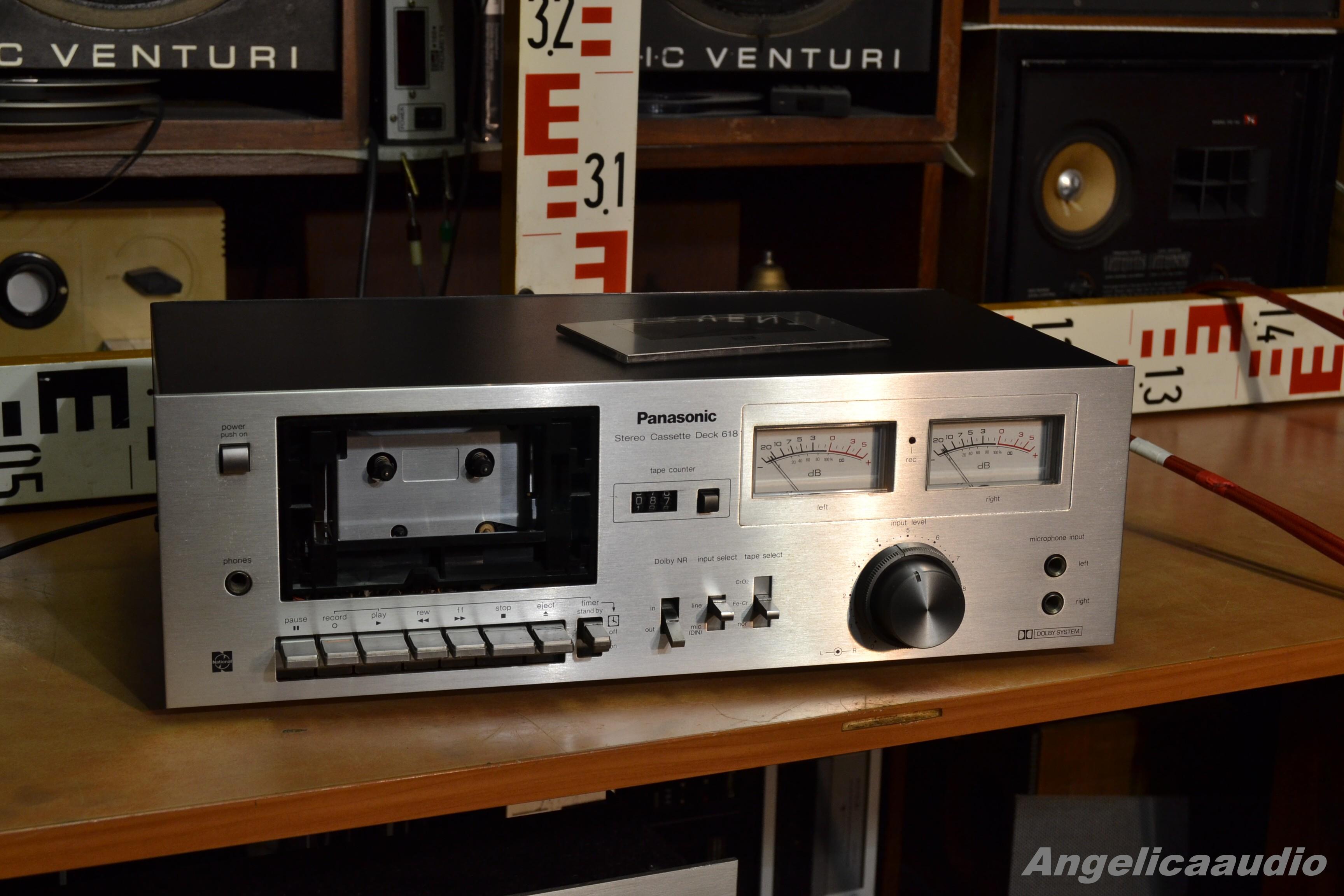 Panasonic Stereo Cassette Deck 618 Made In Japan